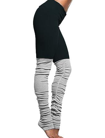03ec75e34b0138 SEASUM Women Ribbed Yoga Leggings Colorblock Gym Yoga Workout High Waist  Running Pants Fitness Candy Tights