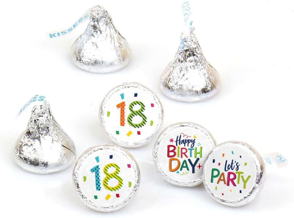 8 Pairs #18 Chocolate Covered Oreo Cookie Candy Party Favors Number Eighteen 18th Birthday Decorations