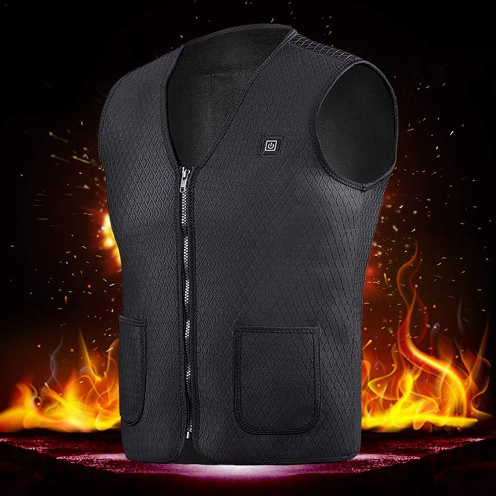 Yunt Gilet Elettrico riscaldato, Gilet Invernale Caldo Abbigliamento riscaldato di Ricarica USB Regolabile