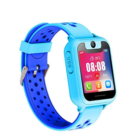 7e7511273 Smart Watch for Kids, Smart Watches for Boys Smartwatch GPS Tracker Watch  Anti-Lost