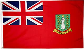 product image for Annin Flagmakers Model 221287 British Virgin Islands Flag, Red 3x5 ft. Nylon SolarGuard Nyl-Glo 100% Made in USA to Official United Nations Design Specifications.
