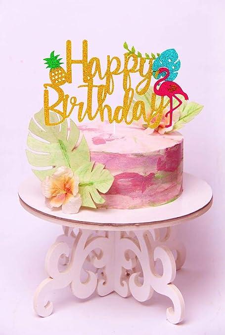 Strange Laventy Glitter Flamingo Cake Toppers Flamingo Happy Birthday Cake Funny Birthday Cards Online Kookostrdamsfinfo