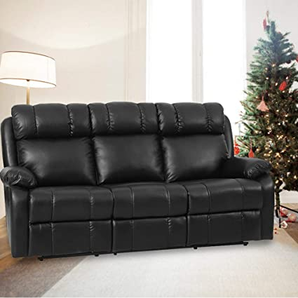 Amazon.com: FDW Recliner Sofa Living Room Set Leather Sofa Recliner ...