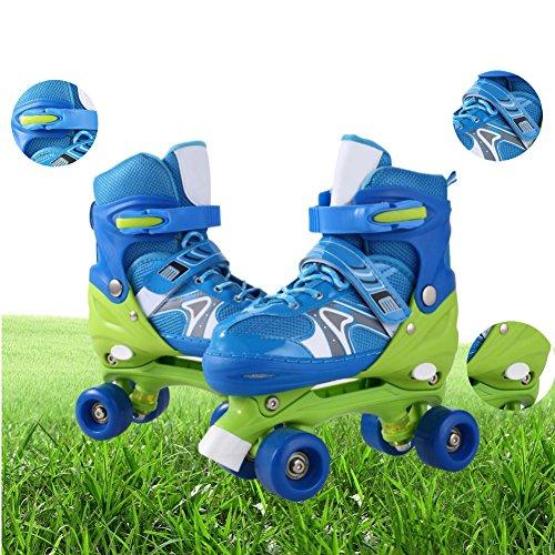 Creine Adjustable Roller Skates PVC Wheel and Mesh Breathable Rollerblades for Toddlers Kid Girls Boy