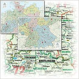 Bacher Orga Karte Deutschland 1 500 000 Gefaltet In Schutzhulle