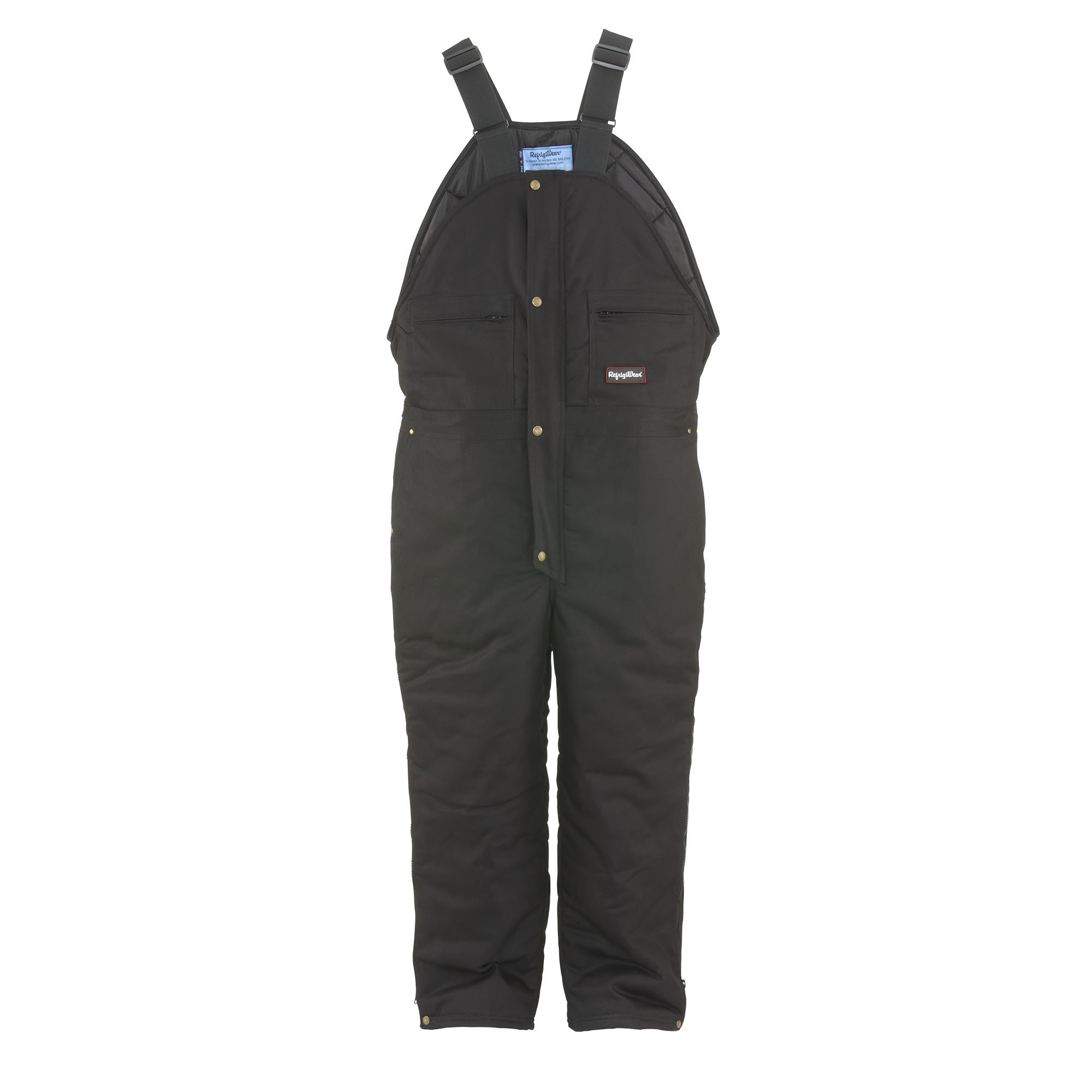 RefrigiWear Men's Comfortguard Denim High Bib Black 4XL Tall