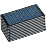 AOSHIKE 10Pcs 5V 60MA Epoxy Solar Panel Polycrystalline Solar Cell for Solar Battery Charger DIY 68x37MM/2.67x1.45inch…