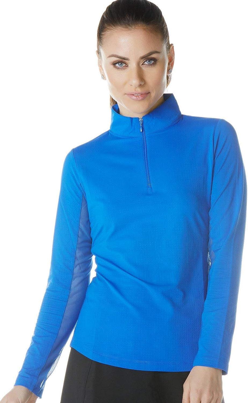 IBKUL Women's Sun Protective UPF 50+ Cooling Long Sleeve Mock Neck Shirt - 80000