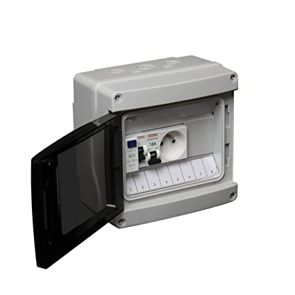 Debflex 707693 - Cuadro eléctrico (con disyuntor, interruptor diferencial y enchufe 2P+T