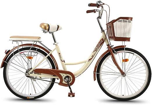 YOUGL Bicicleta Urbana cómoda para Mujeres, Bicicleta de Playa ...