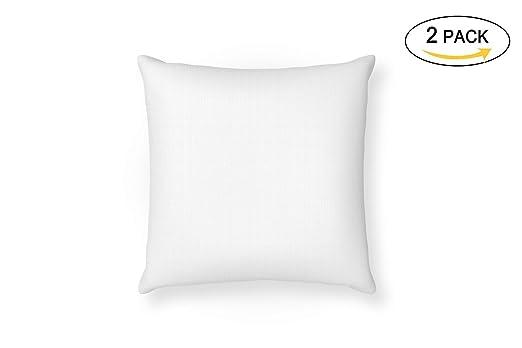 MOZKITA Pack de 2 Relleno Cojin 45x45 cm Blanco Cuadrado Fibra Hueca Resistente Firmeza Decoración Sofá Dormitorio Hogar Fabricados en España (2)