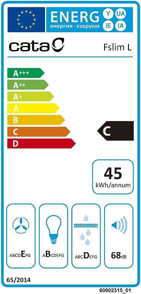 CATA F 2060 WH 205 m³/h Encastrada Blanco C - Campana (205 m³/h, Canalizado/Recirculación, E, B, D, 68 dB): Amazon.es: Grandes electrodomésticos