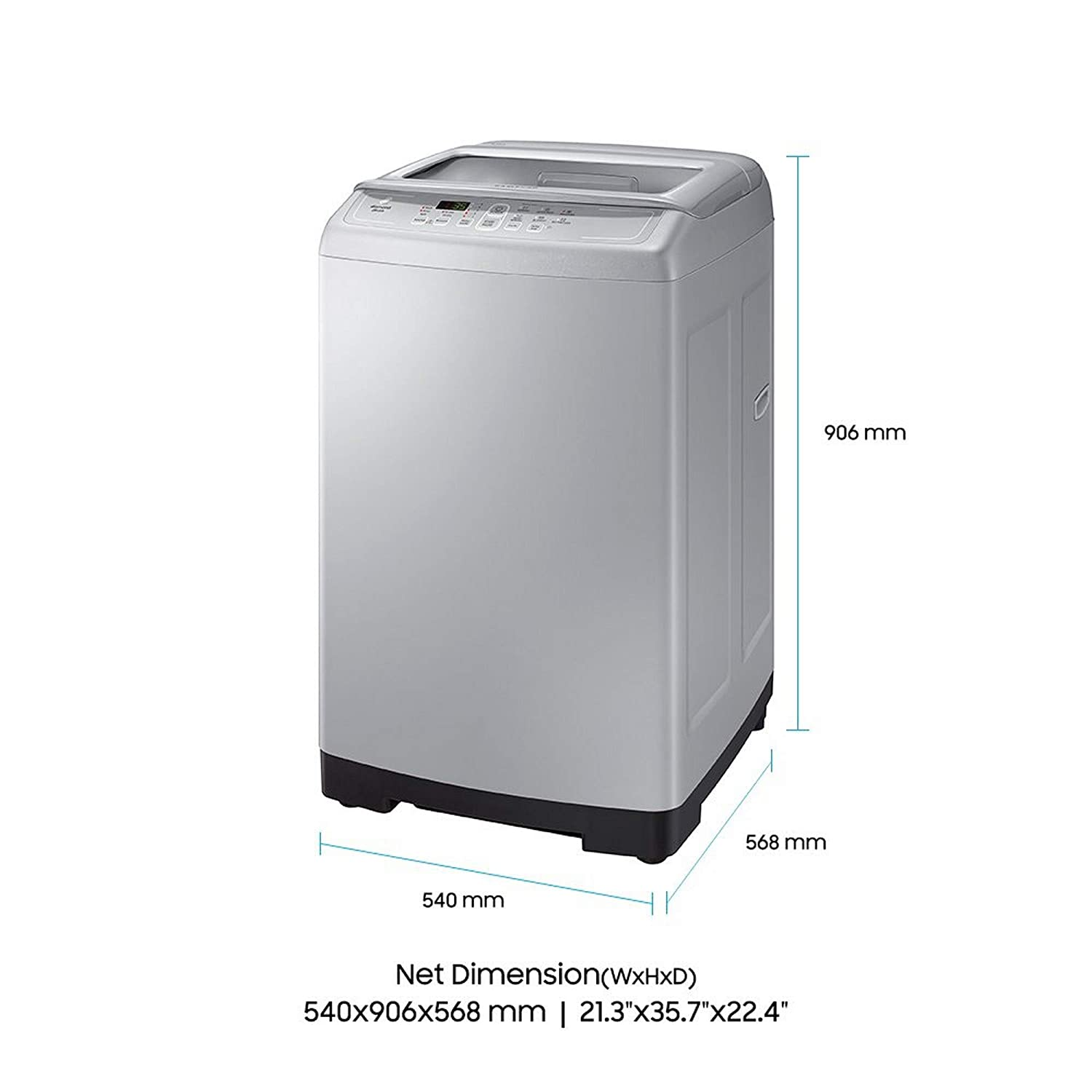 Samsung 6 kg Fully-Automatic Top Loading Washing Machine (WA60M4100HY/TL,  Imperial Silver): Amazon.in: Home & Kitchen