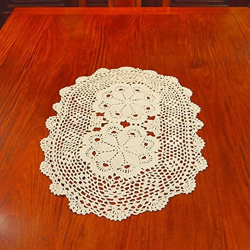 Tablecloths 36 x 36 5 Crochet Decorative Vinyl Lace Table Toppers Off White