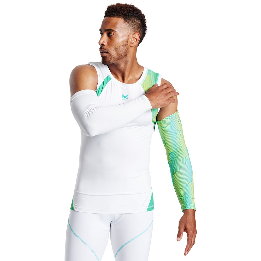 Mission X Wade Collection Mens Cooling Compression Arm Sleeves Mission Athlete Care 109143-P-P