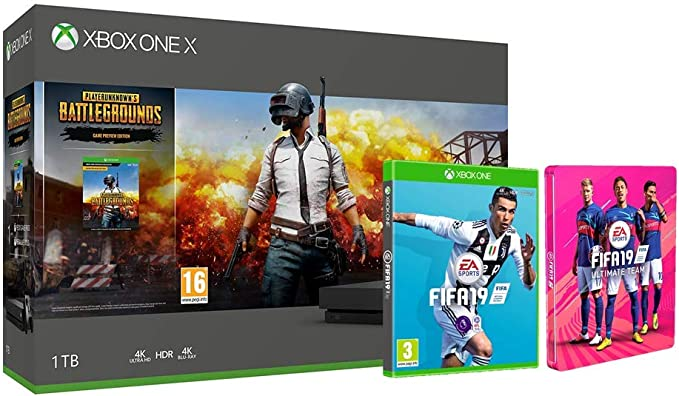Xbox One X 1TB console Unknowns Battlegrounds bundle + FIFA 19 + ...