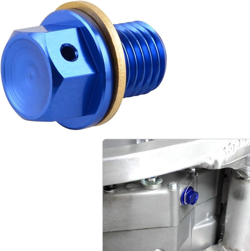 NICECNC 12mm P1.5 Blue Magnetic Oil Drain Plug Bolt for ZXR250 89-99 ZXR400 89-01 ZXR750//1100 90-01 ZZR1200 02-05 ER-4N//6F//6N NINJA 250R 1988-2012 ZX-10R 2004-2017 300//400 //500//600R VERSYS 650//1000