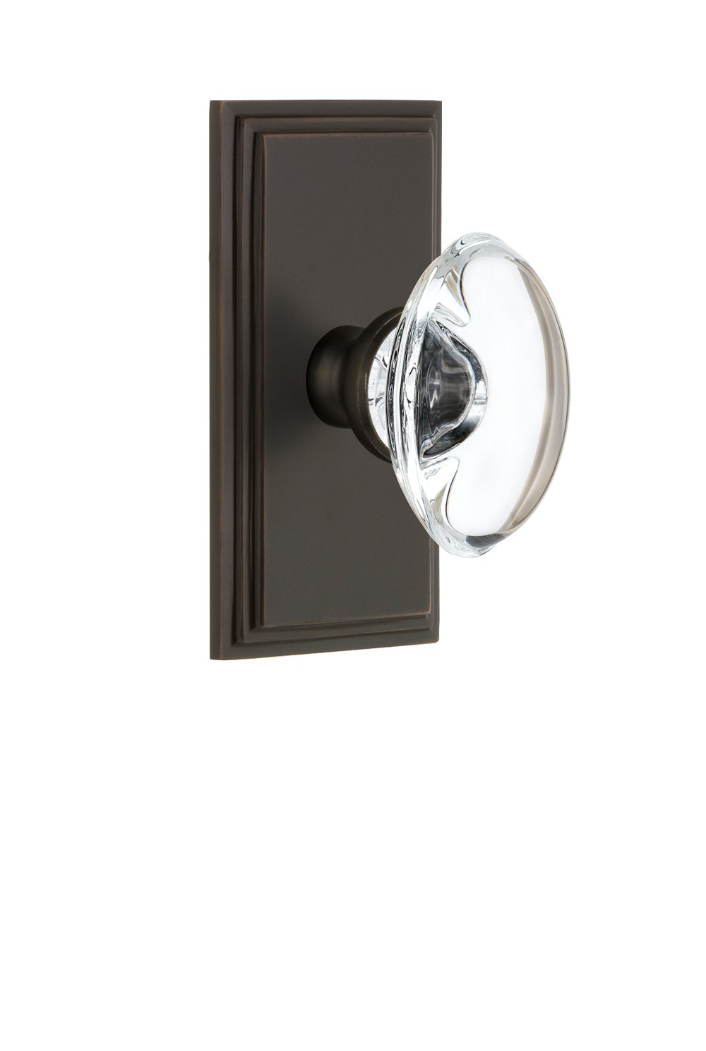 Grandeur 811067 Carre Plate Double Dummy with Provence Crystal Knob in Timeless Bronze
