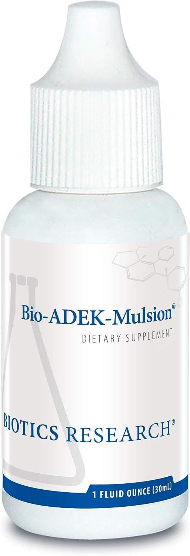 Biotics Research Bio ADEK Mulsion - Emulsified Formula, Improved Bioavailability, Tween Free, Supports Healthy Immune Responses, Bone Health, Eye Health, Cardiovascular Health