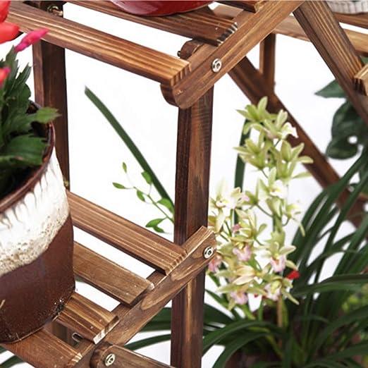 Love lamp Soportes para Plantas Soporte de Flor de Madera sólida, Estante carnoso de la Maceta de la Flor del triángulo de pie del balcón de la Sala de Estar Estantería de