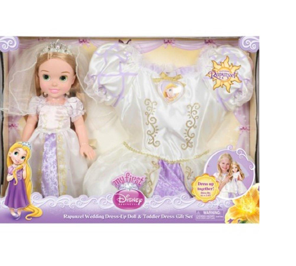 Amazon Disney Princess Rapunzel Wedding Dress Up Doll Toddler Gift Set By Jakks Pacific Toys Games
