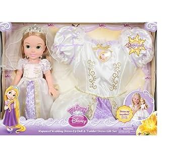 Disney Princess Rapunzel Wedding Dress Up Doll Toddler Gift Set By Jakks Pacific