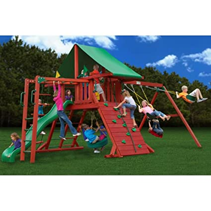 Amazoncom Sun Valley Playset W Monkey Bars Deluxe Rope Ladder