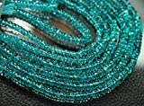 14 Inches, Super Finest QualityQuality Sky Blue Apatite Smooth Wheel Cut Rondelles, Size 5mm