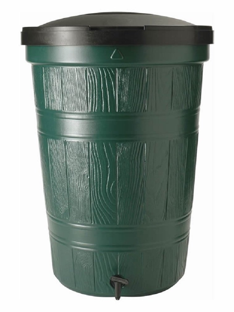 200L Garden Lake Water Butt with Lid & Tap Rainwater Collection 200 Litres Storage Original Organics