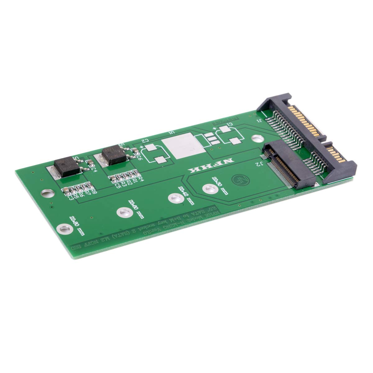 cablecc M.2 NGFF PCI-E 2 Lane SSD a 7 mm 2,5 SATA 22pin Disco Duro ...