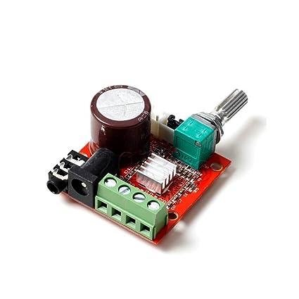 Solu 12v Mini Hi-fi Pam8610 Audio Stereo Amplifier Board / 2x10w Dual  Channel D Class//12v Mini Hi-fi Pam8610 2x10w Audio Stereo Amplifier Board  Dual