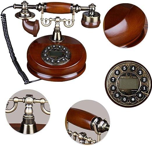 iFCOW Tel/éfono antiguo con cable estilo vintage retro para decoraci/ón de escritorio o tel/éfono