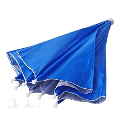 Sombrero Gorro Paraguas Umbrella Cabeza para Deporte