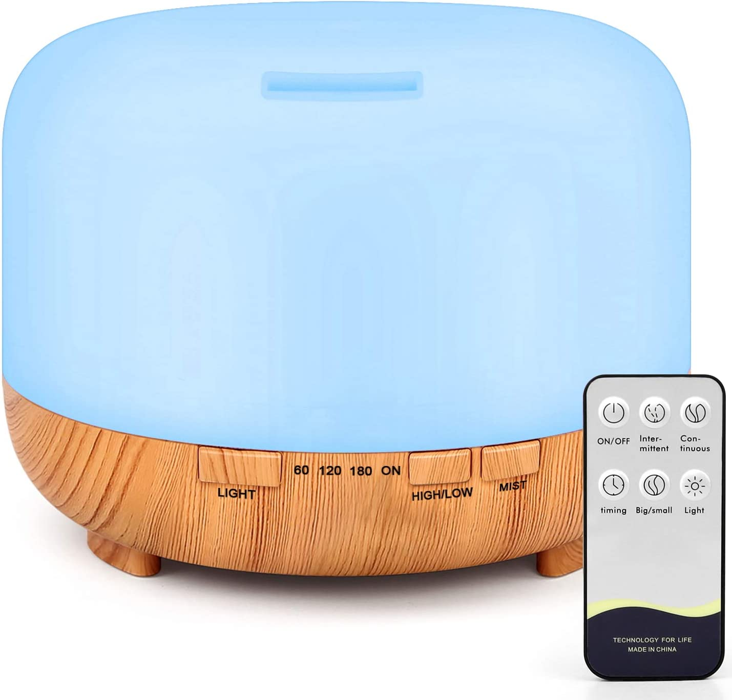 500ML USB Essential Oil Aroma Diffuser 7 LED Ultrasonic Humidifier Air Purifier