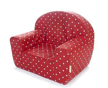 Gepetto Kinder Sessel - Rot mit weißen Punkten: Amazon.de: Küche ... | {Kindersessel 78}