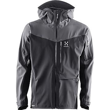 Haglöfs Touring Proof Jacket Men - Chaqueta de Trekking Densidad de Agua, True Black/Magnetite: Amazon.es: Deportes y aire libre