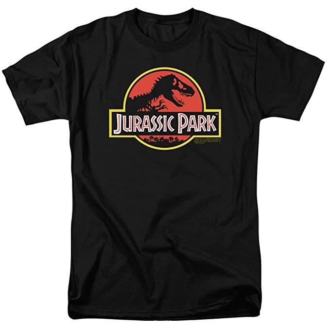 32e23de8 Amazon.com: Popfunk Jurassic Park Logo Adult T Shirt & Exclusive ...