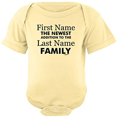 Amazon baby gifts for all personalized new baby name family personalized baby clothes personalized new baby name family custom bodysuit newborn banana negle Gallery
