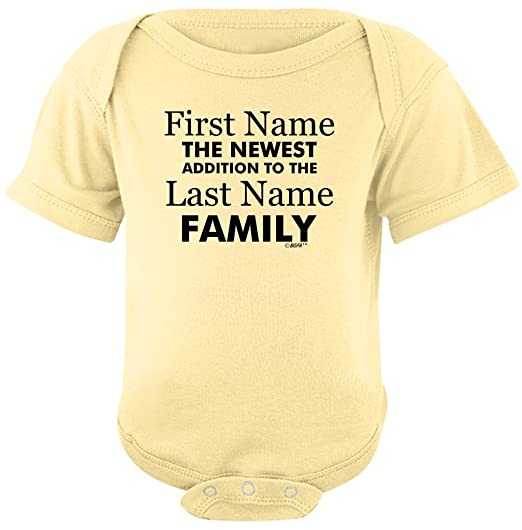 10fc6d696 Baby Gifts For All Personalized New Baby Name Family Custom Bodysuit