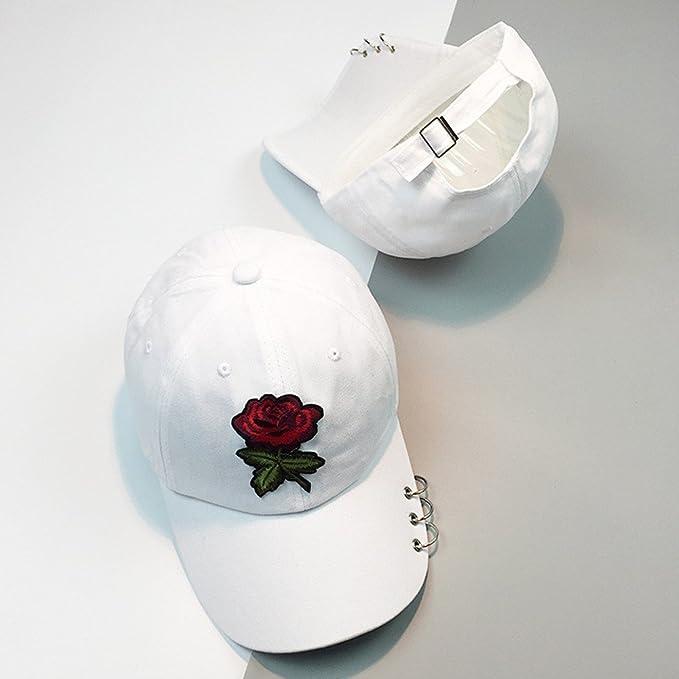 LOPILY Gorra de Béisbol Casual Hats Hip-Hop Patrón de Bordado Rosa ...
