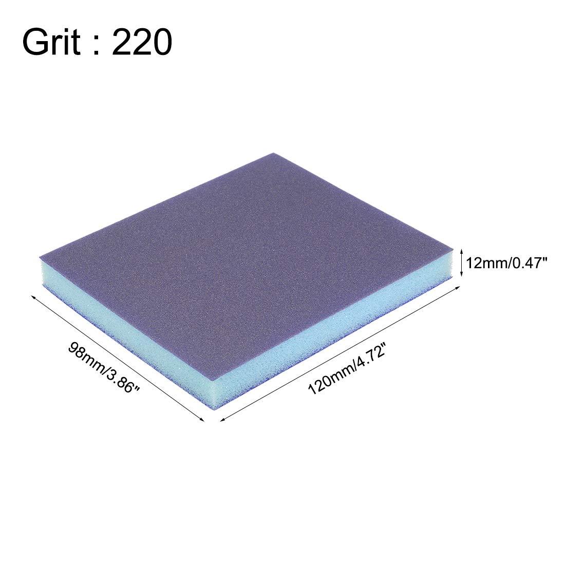 sourcing map /Éponge pon/çage Medium Grain 120 Grain Bloc pon/çage 4.72x3.86 x 0.47 8Pcs