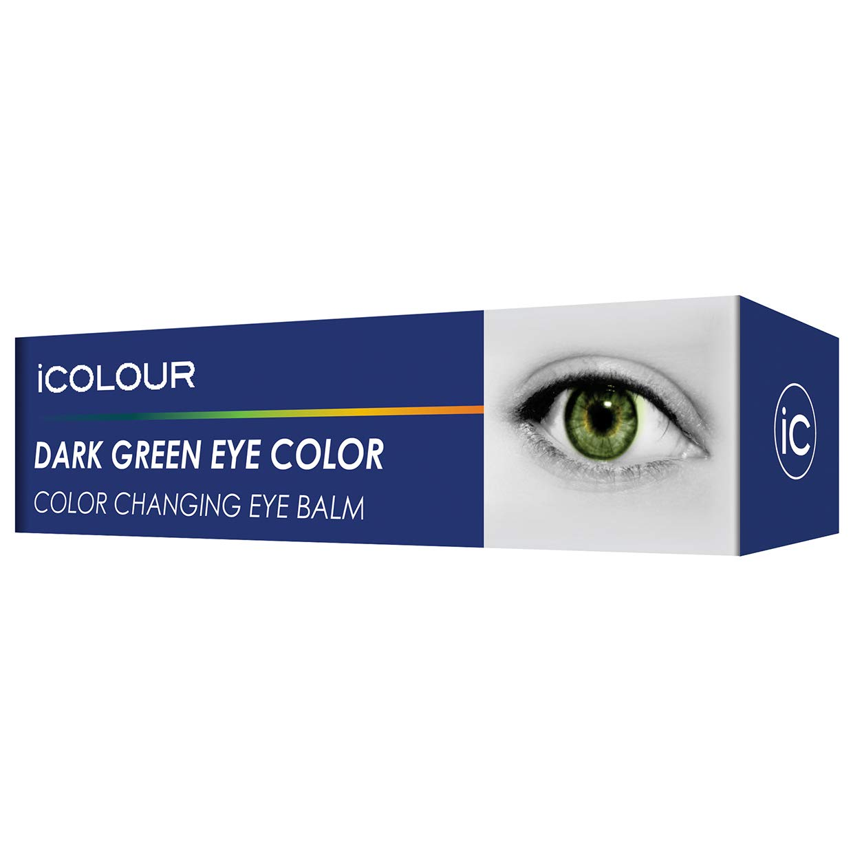 iCOLOUR Color Changing Eye Balm - Change Your Eye Color Naturally - 1 Month Supply - 4.3 g (Dark Green)