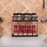 2-Tier Standing Spice Rack GONGSHI Kitchen Cabinet Storage Organizer