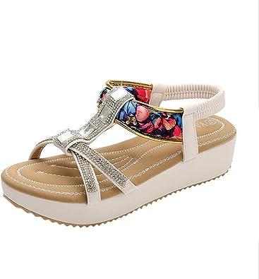 Lilicat sandales femme,Tongs Chaussures Été Nu Pieds à