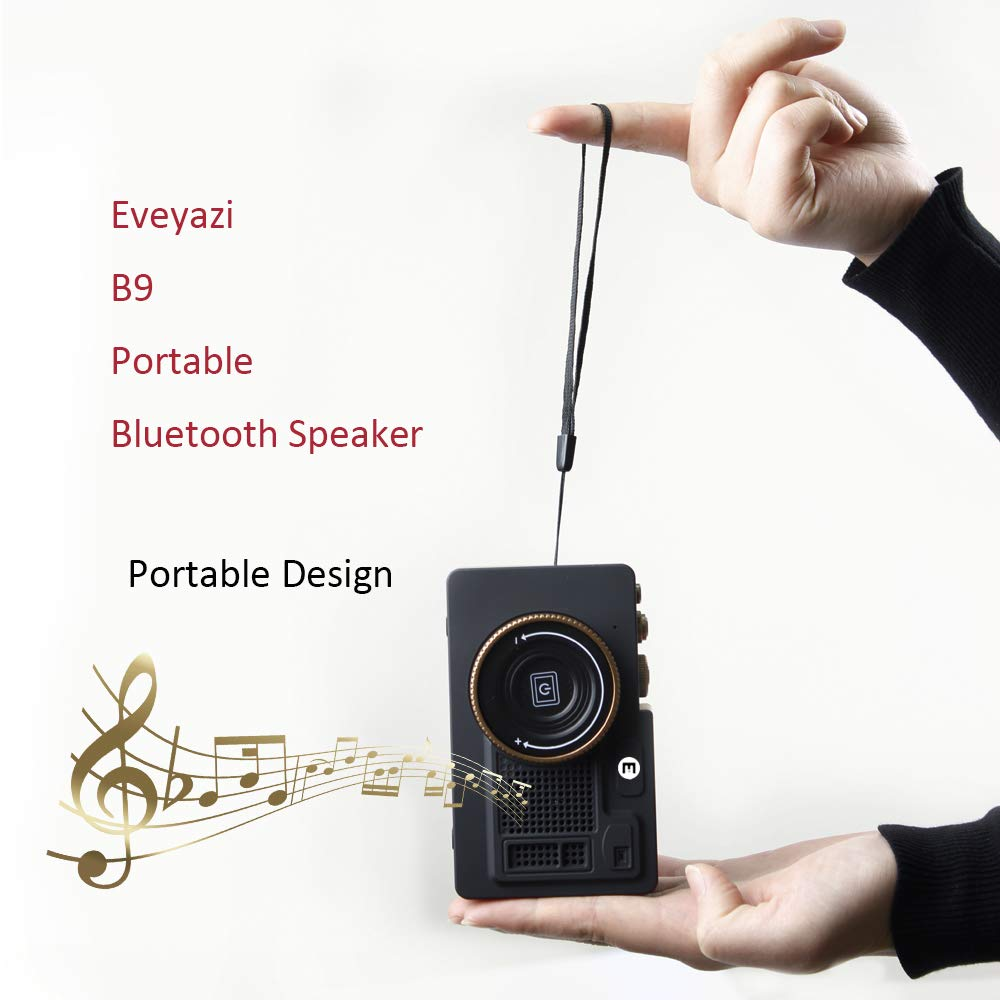 Eveyazi B9 Vintage Radio Retro Bluetooth Speaker with Unique Design, Multiple Functions, Great Sound for iPhone Ipad Android Smartphone and More