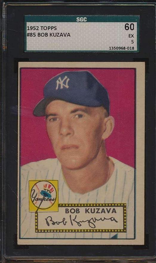 85 Bob Kuzava 1952 Topps Baseball Cards Graded Sgc 60