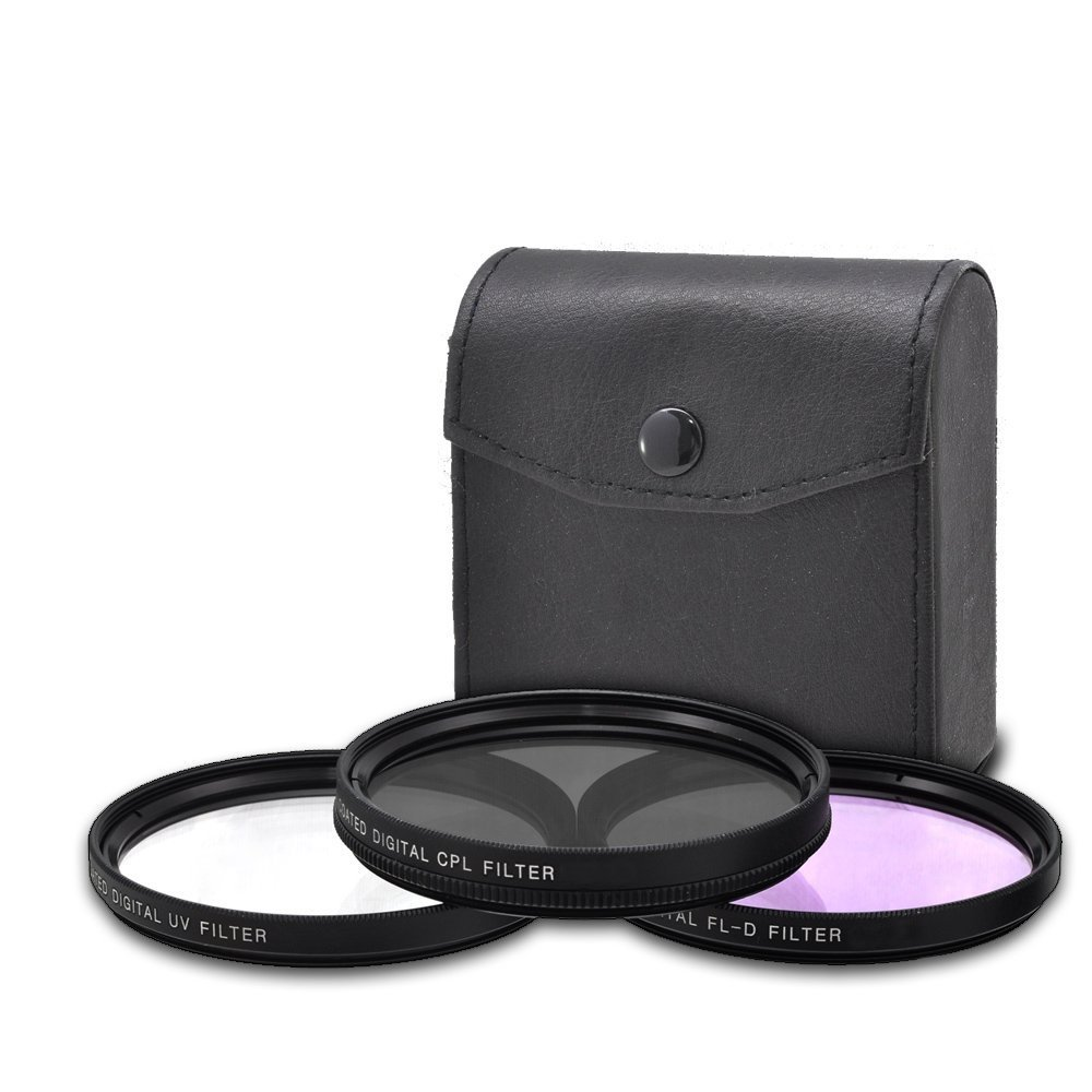 Sony Sonnar T FE 55mm f/1.8 ZA Full Frame Lens with AOM Pro Kit. Includes: UV Filter, Circular Polarizing Filter, Fluorescent Day Filter, Sony Lens Hood, Front & Rear Caps - International Version by AOM (Image #3)