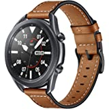 KARTICE Compatible with Galaxy Watch 46mm Bands Galaxy Watch 3 Bands 22mm Leather Strap Replacement Buckle Band for Samsung G