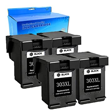 Ouguan® - 4 Cartuchos de Tinta Negra regenerados compatibles ...