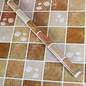 HL Küche Anti Öl Aufkleber Mosaik Badezimmer Wasserfeste Selbstklebende  Tapete, Hohe Temperatur Bad